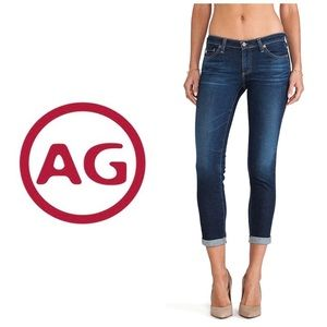 AG The Stevie Rollup Slim Straight Ankle Jeans 👖